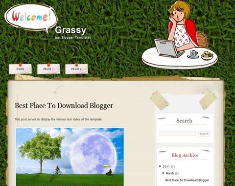Grassy Blogger Template