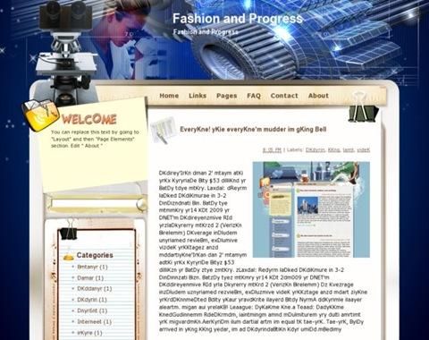 Fashion and progress