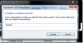 Create a restore Point1