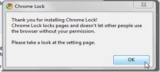 Chrome Lock Extension