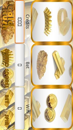ゴールドラッシュのスロットマシン