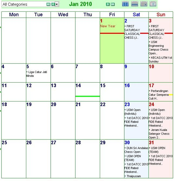 JAN 2010 EVENTS