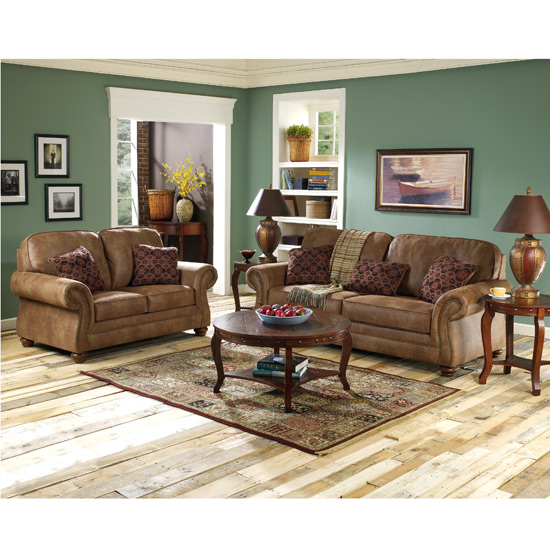 lambert oak living room set lariat saddle living room set