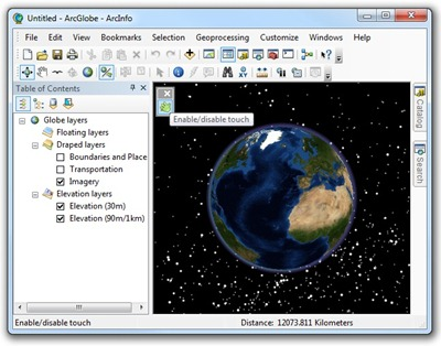 Touch for ArcGIS Desktop