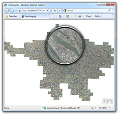 Custom Magnifier for Esri's Silverlight SDK