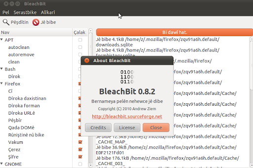 wallpaper ubuntu 1010. BleachBit 0.8.2 on Ubuntu