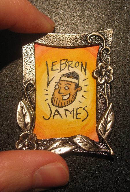little LeBron painting