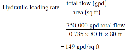 Trickling Process Calculation