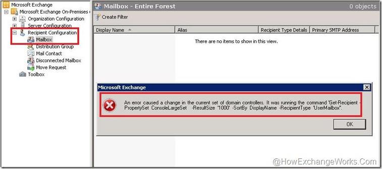 Error in EMC 2010