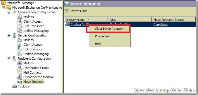 Clear Move Request in 2010 sp1