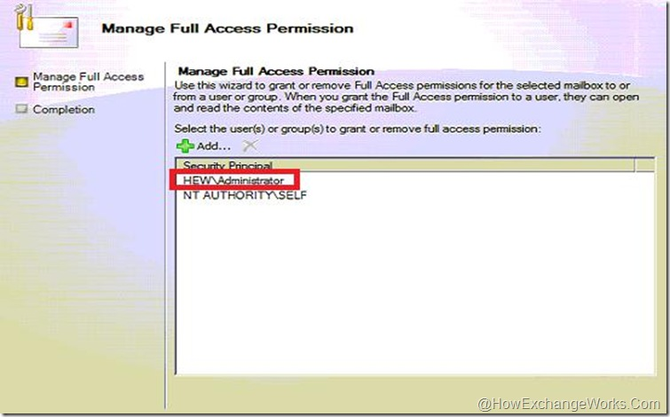 Full access to admin mailbox