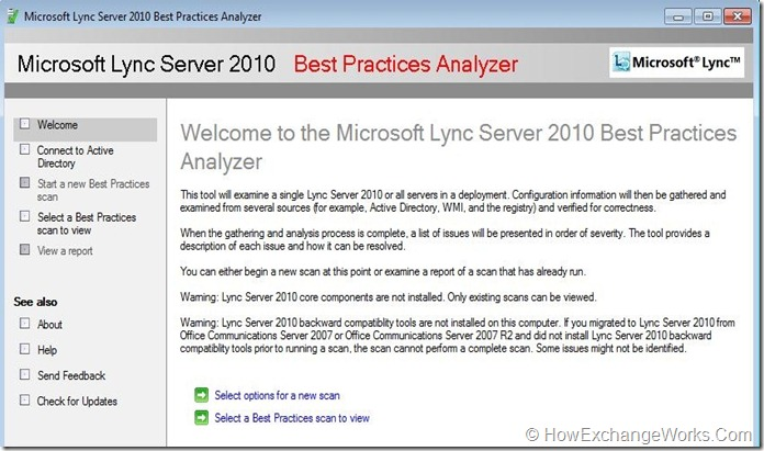 Lync 2010 Best Practices Analyzer