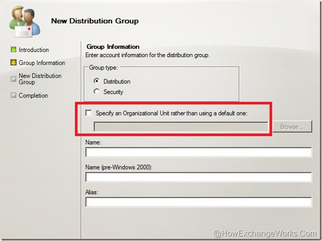 Create distribution group in EMC