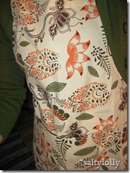 My new apron I got for Christmas...finally it gets dirty!