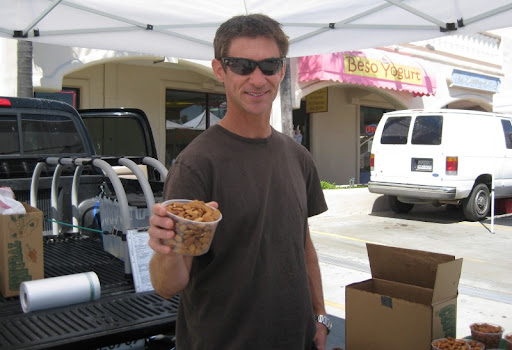 Darrin at the PB Farmer's Market