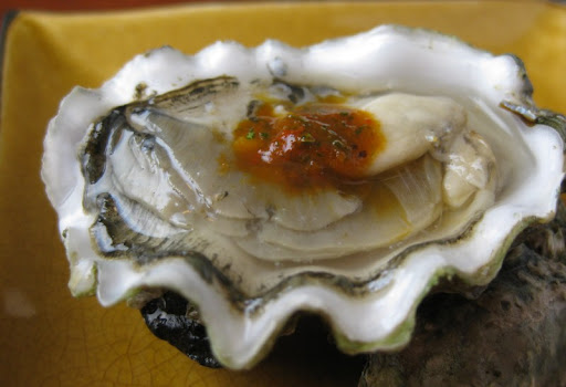 Oysters with Chile de Arbol and Cilantro