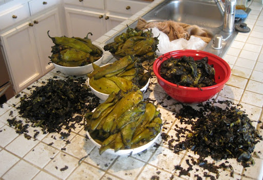 Roasted Hatch Green Chiles