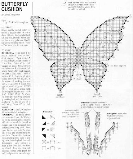 Вязание бабочек спицами схемы и описание 3