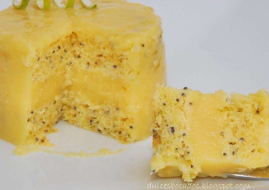 Tarta de lima con semillas de amapola y lemon curd