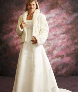 Wedding wedding dress for winter