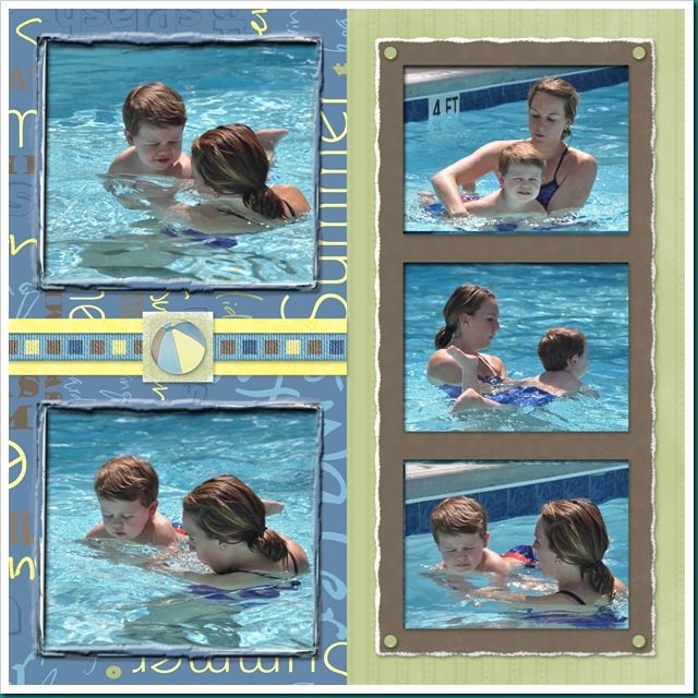 Sam's first swim lesson page 1