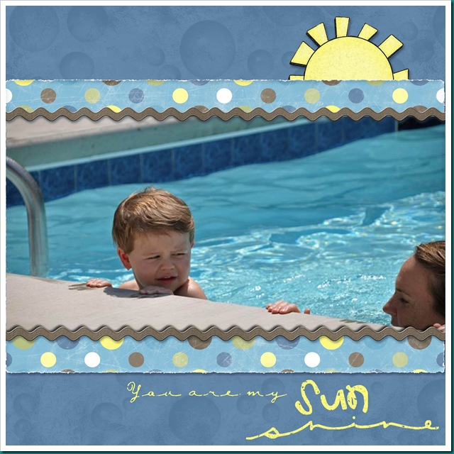 Sam's first swim lesson page 2