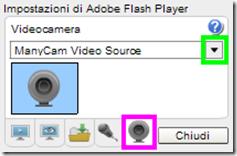 Usare ManyCam nelle videochat di internet
