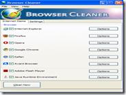 Cancella le tracce di navigazione dai maggiori browser internet con un clic - Browser Cleaner