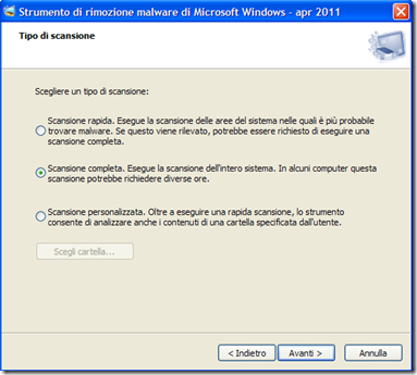 Strumento di rimozione malware per Microsoft Windows (KB890830)