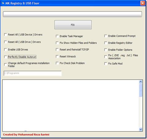 MK Registry & USB Fixer