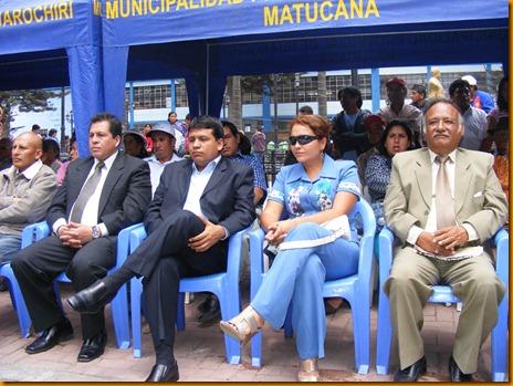 alcaldes electos de san mateo, san antonio, santa eualia, mariatana, cocachacra, san damián, surco, entre otros, estuvieron con rosita vásquez