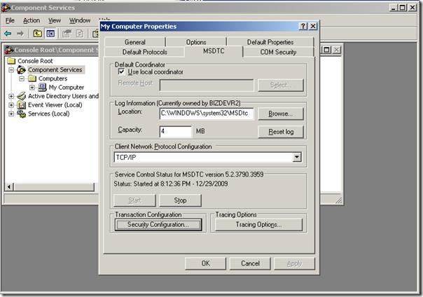 MSDTC W2K3