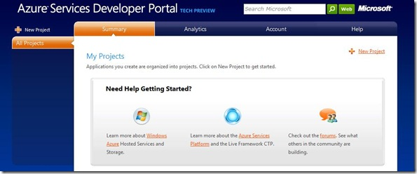 Azure Services Developer Portal