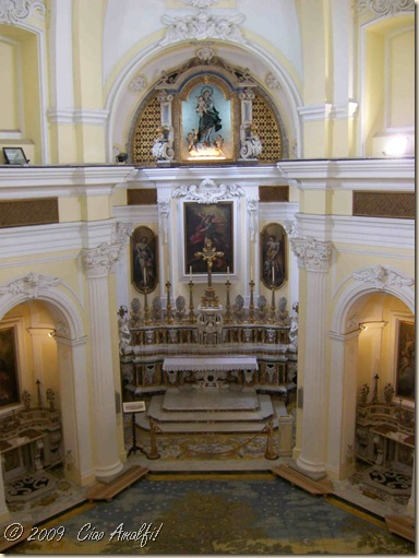 Ciao Amalfi Coast Blog San Michele altar