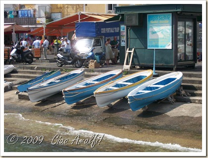 Ciao Amalfi Coast Blog Blue Boats Capri