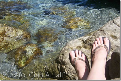 Ciao Amalfi Coast Blog Santa Croce feet