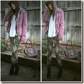 vintage pale glam pink