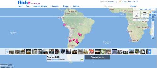Flickr map