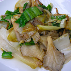 Warm Endive, Ramp, And Oyster Mushroom Salad