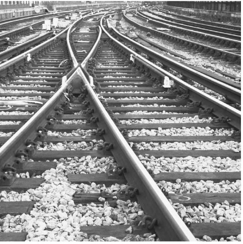 Because steel has a relatively high coefficient of thermal expansion, standard railroad tracks are constructed so that they can safely expand on a hot day without derailing the trains traveling over them.