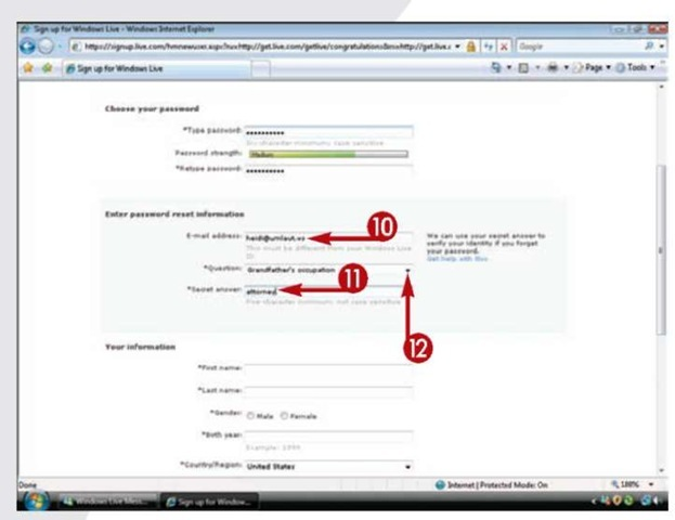 how to create windows live mail account