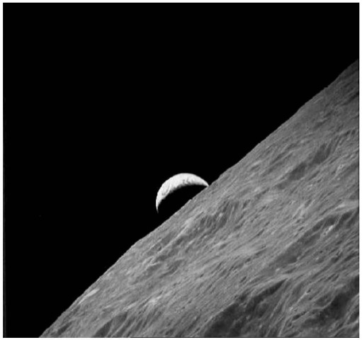 Apollo 17's view of the rising crescent Earth from behind the Moon.This figure is available in full color at http://www.mrw.interscience.wiley.com/ esst