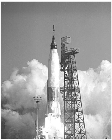 Launch of John Glenn's Mercury ''Freedom Seven'' spacecraft by an Atlas space launch vehicle. This figure is available in full color at http:// www.mrw.interscience.wiley.com/esst.
