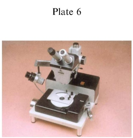 Plate 6 ACCIDENT INVESTIGATION/Tachographs A Kienzle microscope with computer-linking modifications.