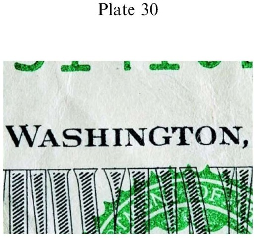 Plate 30 FORGERY AND FRAUD/Counterfeit Currency Genuine US $20 FRN.