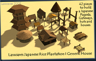 Lassoares Japanese Rice Plantation II Buildings