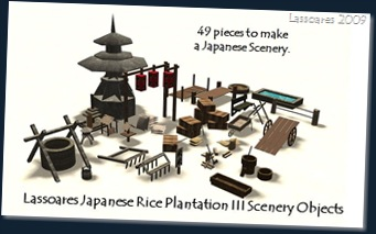 Lassoares Japanese Rice Plantation III Scenery Objects