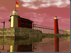 Lighthouse And Pier Scenery (by MGP) 001