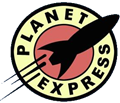 Logo Planet Express (Futurama - Matt Groening 20th Century Fox)