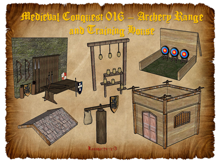 Medieval Conquest 016 – Archery Range and Training House (lassoares-rct3)
